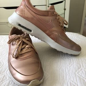 Rose gold Nike air max thea